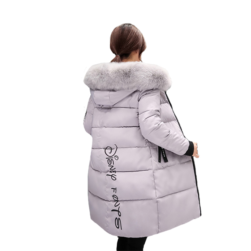 Women Winter Jacket 2018 New Fashion Hooded with Fur Collar Warm Female Womens Winter Coat Ladies Long Parka Outwear Camperas