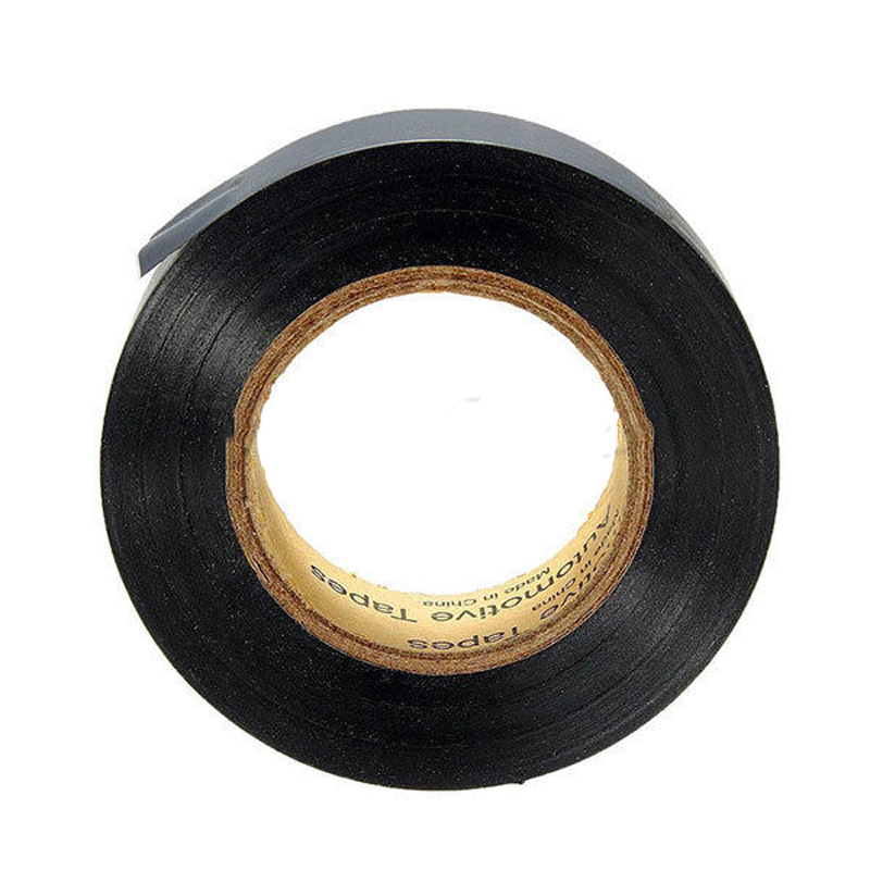 Mayitr 1 Roll Black Electrical Tape PVC Electrical Flame Insulation Adhesive Tape for DIY Electrical Tool 17mm*25m
