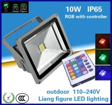 Wholesale10w RGB DC90-260V IP65 LED outdoor floodlight led Projector lamp led spotlight for square hotel