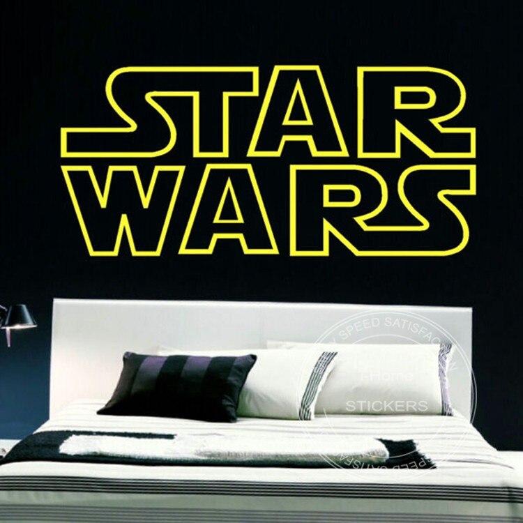 60cm Star Wars Vinyl Letters Starwars Wall Quotes Nursery Kids Bedroom Decor Stencil Sticker