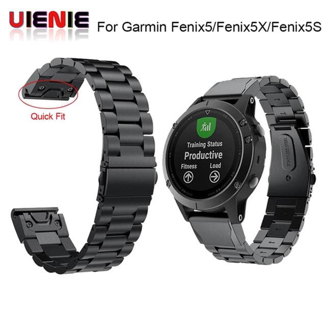 26 22 20 mm libération rapide facile ajustement acier inoxydable montre bracelet bracelet pour Garmin Fenix 6 6X 5 5X 5s 3HR D2 Mk1 montre intelligente