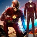 2017 A Temporada de Flash 2 Flash de Barry Allen traje cosplay trajes de halloween para adultos traje de super-heróis de flash o flash terno homens