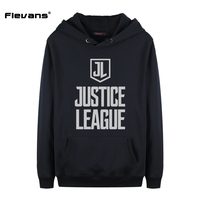 Flevans Fashion Men Hoodies Sweatshirts DC COMICS Justice League Letter Print Hooded Mens Autumn Winter Pullovers
