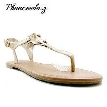 Nowy 2019 moda wycięcia kobiety sandały odwróć F z wystającym palcem niskie kliny czeski letnie buty złote kobiety casualowe sandały rozmiar 6 11