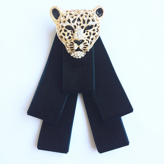 fashion new free shipping MALE female men's woman wedding tie collar collar leopard head Korean high-grade velvet