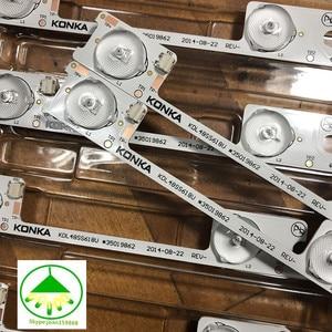 Image 4 - 100pcs/Lot Original novo LED backlight tira bar para KDL48JT618A KDL48JT618U KDL48SS618U 35018539 35018540 6 LEDS (6 v) 442mm