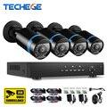 Techege HD 2-МЕГАПИКСЕЛЬНАЯ Видеонаблюдения Системы ВИДЕОНАБЛЮДЕНИЯ 4CH Full HD 1080 P HD AHD DVR Kit 4*1080 P SONY IMX322 Камеры Безопасности система