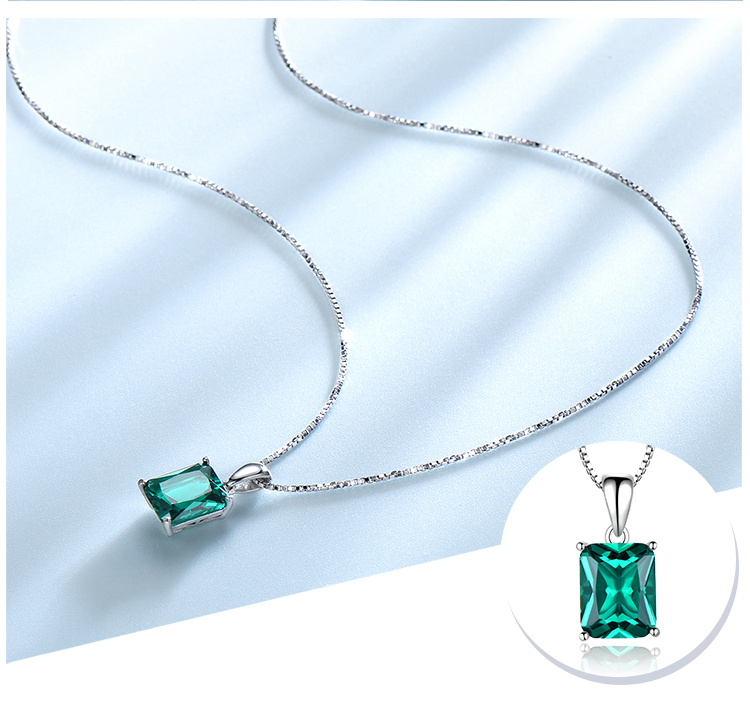 Honyy ?Emerald   925 sterling silver necklace for women NUJ056E-1-app (4)