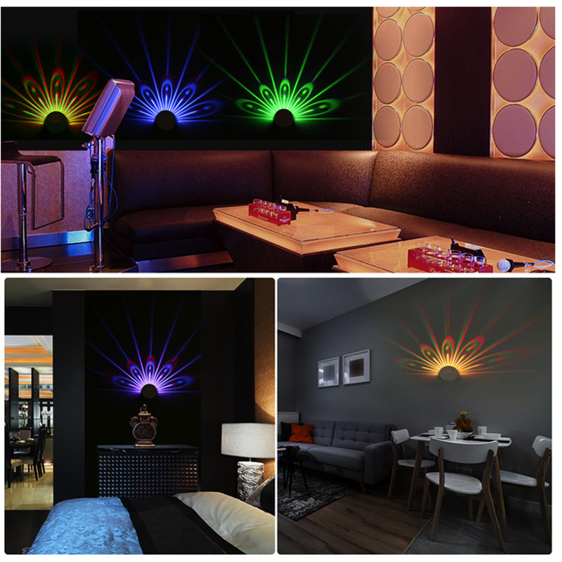 Colorful Peacock Projection Lamp Touching Remote Control Changeable Night Lamp QJS Shop