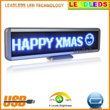 Hot Sale Blue LED Light Led Car Sign USB Programmable Message Moving Scrolling Display Board High Brightness Decoration Light