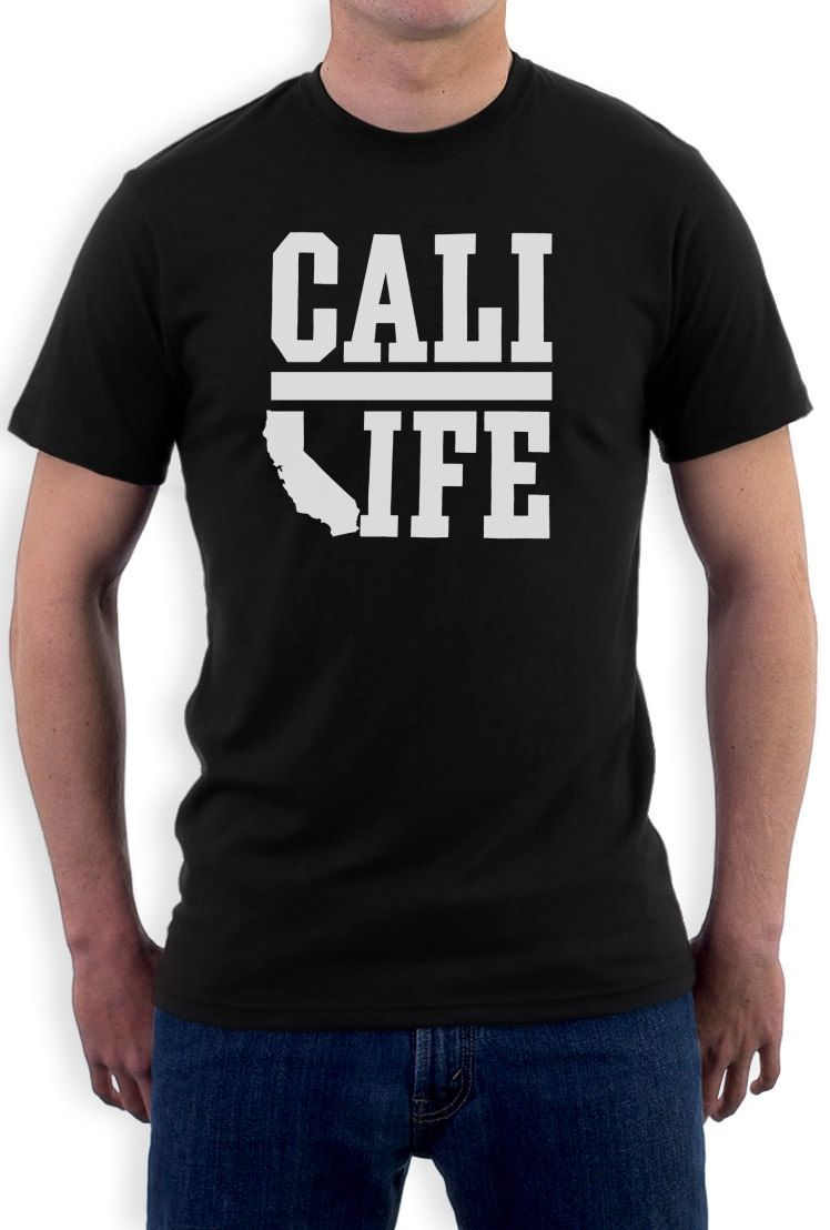 T Shirts Short Short Sleeve CALIFORNIA REPUBLIC T-Shirt Cali State bear map State So Cal Vintage Regular Crew Neck Tee Shirt
