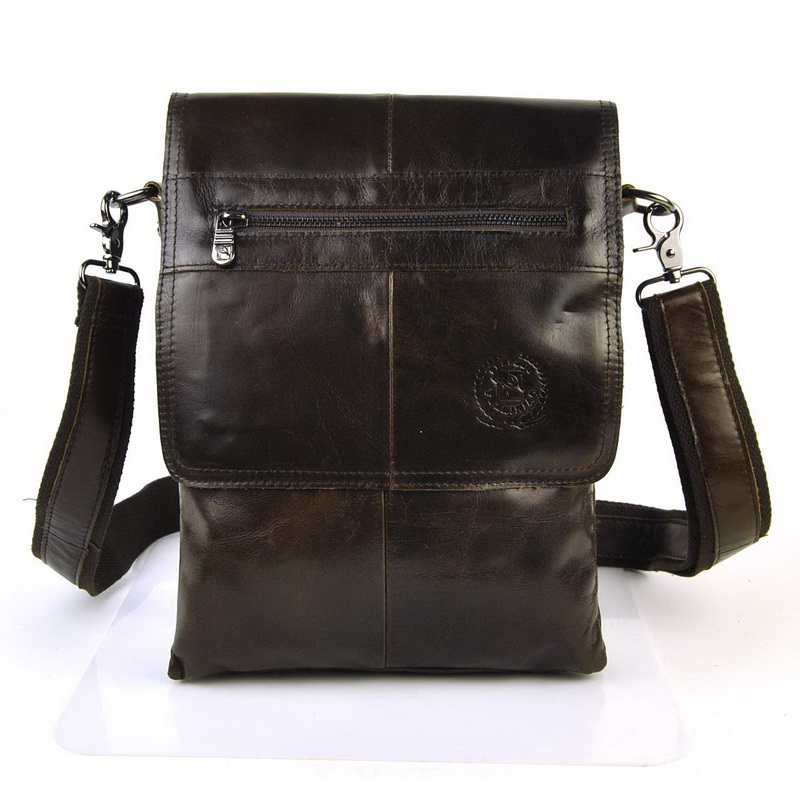 где купить Men Genuine Real Cow Leather Flap Shoulder Bag Vintage Retro Bags Cross Body Messenger Classic Work Business Multi Compartment по лучшей цене