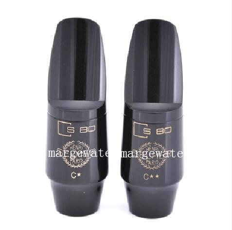 Brand S80 Bakelite Saxophone Mouthpiece For Alto Tenor Soprano Saxophone C* C** Jazz Music Instrument Accessories Free Shipping(China)
