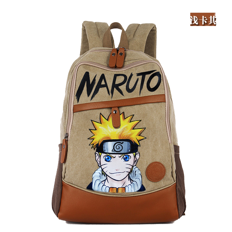 Anime Naruto Cosplay Uzumaki Naruto Hand painted male and female Korean tide student bag diy personalized