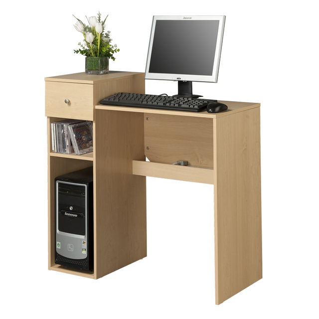 Allstate Simple Desktop Computer Desk Table With Smoked Home Design  Minimalist Combination Trunking Socket 1518