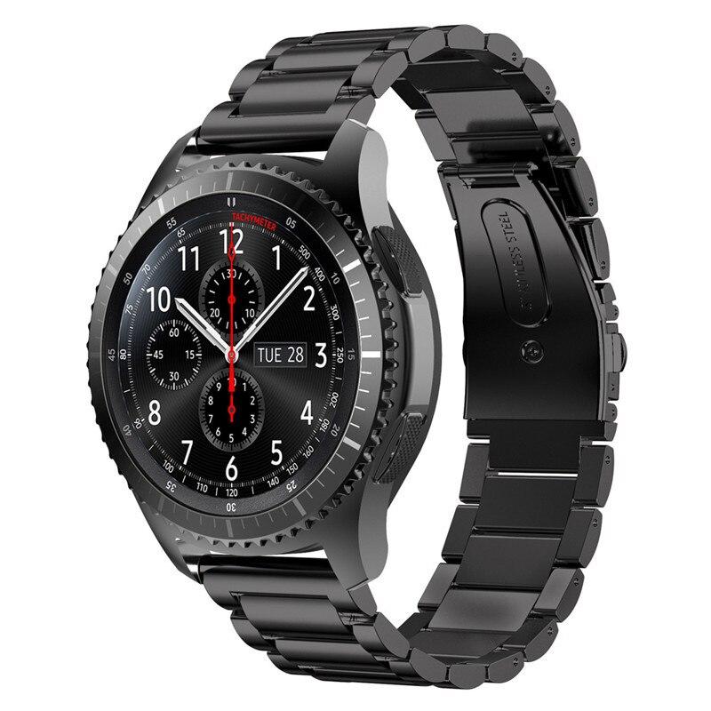 ASHEI Montre En Acier Inoxydable Bandes Lien Bracelet Sangle pour Samsung Vitesse S3 Engrenage Classique S3 Frontière sport Montre Smart Watch Fitness