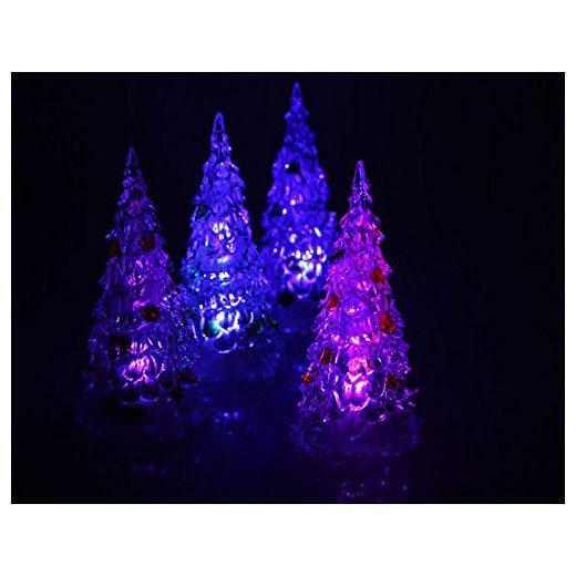 1 pcs acrylic christmas tree colorful gradient small night lights - Small Purple Christmas Tree