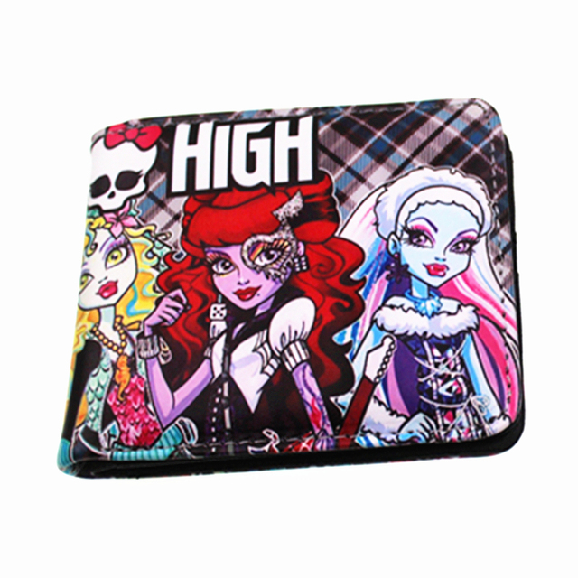 Monster High and Hotel Transylvania fashion purse woman wallet man wallets portfel children present wallets wholesale Kids Wallets