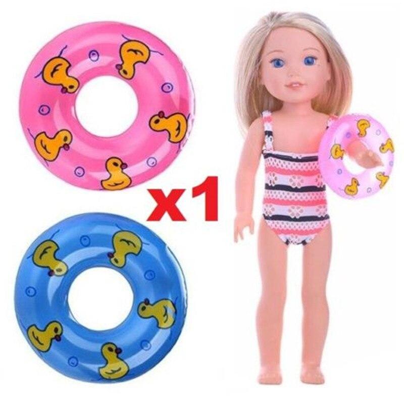 EatingBiting(R) 1PC Random 1:6 Dollhouse Miniature Toy Plastic Swim Ring life Buoys Landscape