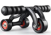 Three Wheel Abdomen Trainer Body Building Ab Roller Home Fitness Training Equipment Free Shipping