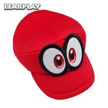 Game Super Mario Cappy Hats Brothers Mario Odyssey Luigi Waluigi Caps Sponge Soft Adults Kids hats Red Yellow Green Purple Gift