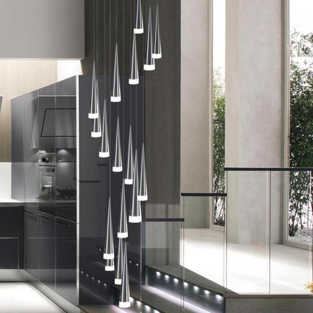 En Aluminium Escalier Lumière Cône Éclairage 1 5 Led M Moderne 3 8nOX0Pkw
