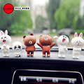 Full werk linha criativa boneca mini carro dashboard decorações casa ornamentos melhor aniversário do presente do feriado (pack of 6)
