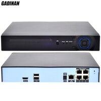 GADINAN 48V 4CH 5MP H.265 POE NVR DVR CCTV System ONVIF Real Time Network Recorder Hi3798M POE for IP Camera XMEYE P2P 3G WIFI