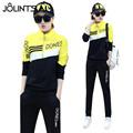 Sportwear 2017 New Spring Autumn Fashion Long Sleeve Women Tracksuits Letter Printed Zipper Hoodies +Pants Sporting 2 Piece Sets