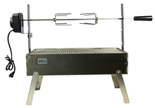 28″ Stainless Steel Spit Roaster Commercial Hog Roast Machine BBQ Spit Chicken Pig Roaster Rotisserie