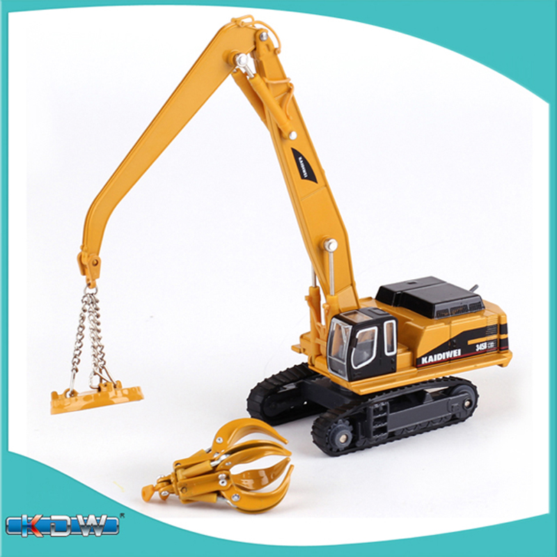 Alloy engineering vehicle material handling vehicle Manipulator arm can extend car model boys girls car toy