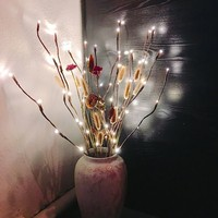 LED Willow Branch Lamp Floral Lights 20 Bulbs Home Party Garden Decor Christmas Birthday Gift gifts Desktop Decoration Lights 3