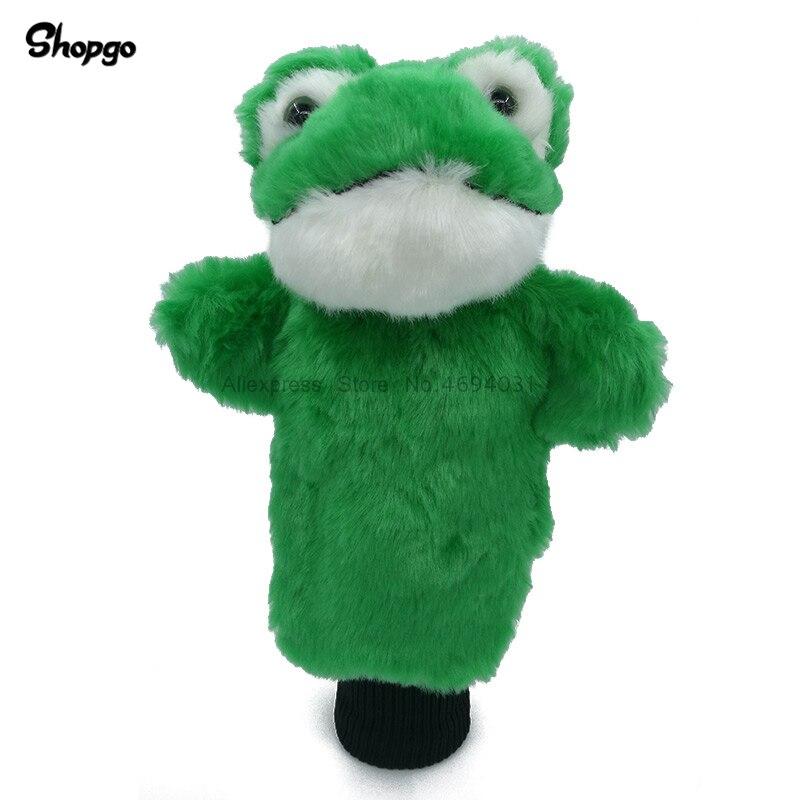 Plush Frog Golf Head Cover Fairway Woods & Hybrid Rescue Cartoon Animal Golf Clubs Headcover Mascot Novelty Cute Gift