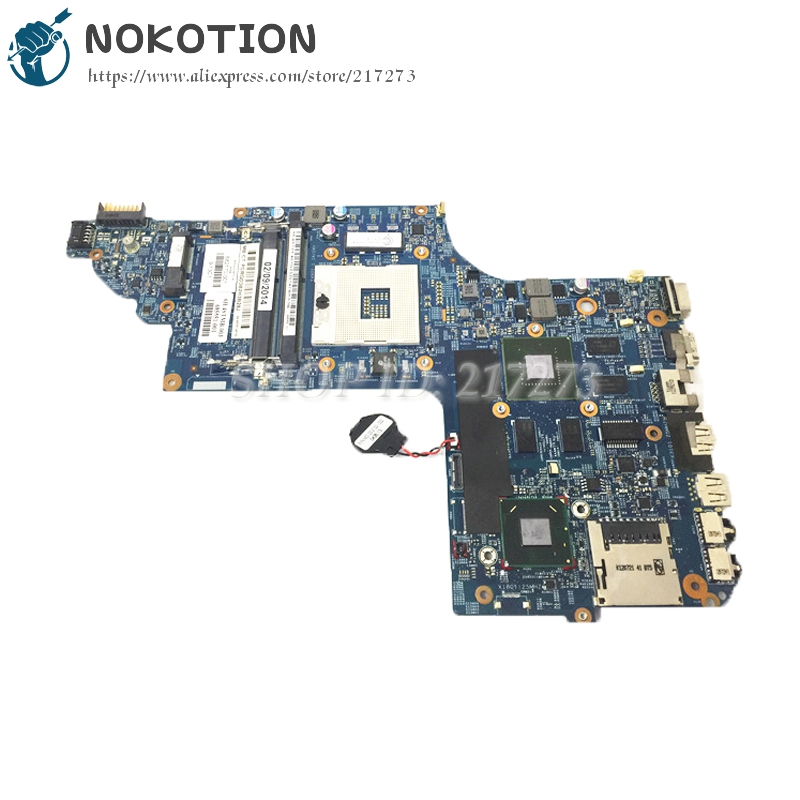 NOKOTION 682168-001 682170-001 Laptop Motherboard For Hp Pavilion DV6-7000 MAIN BOARD HM77 GT630M 1GB Video card DDR3 nokotion 578377 001 laptop motherboard for hp pavilion dv6 dv6 1000 main board pm45 ddr3 with graphics card free cpu