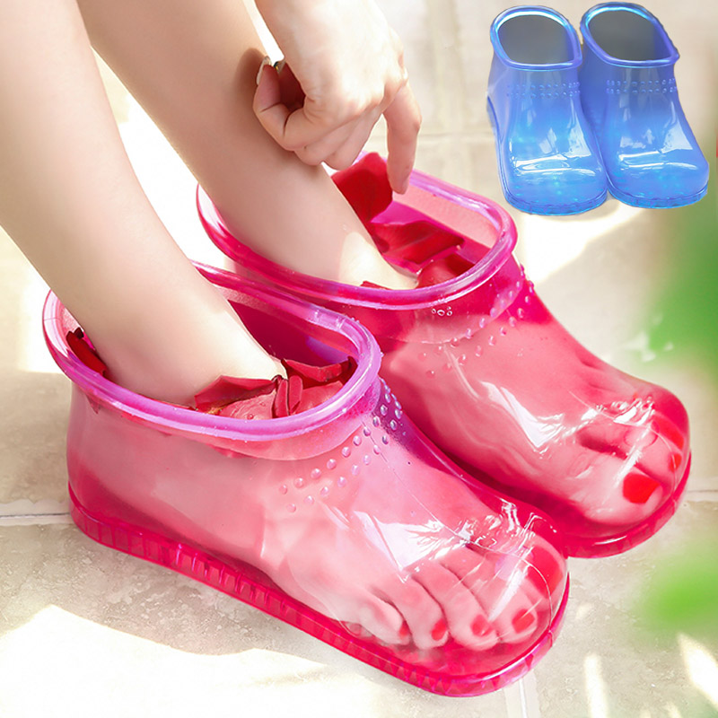 Women Foot Soak Bath Therapy Massage Shoes Relaxation Ankle Boots Acupoint Sole Home Feet Care Hot water Zapatos Mujer PJ1W(China)