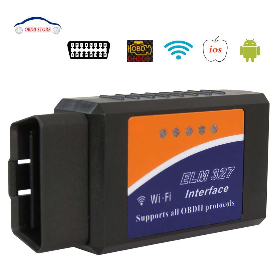 Obd2 Scanner ELM327 WIFI V1.5 Obdii Voiture De Diagnostic Outil ELM 327 v 1.5 OBD 2 Code Lecteur Outil D'analyse Pour IOS/Android PIC18F25K80