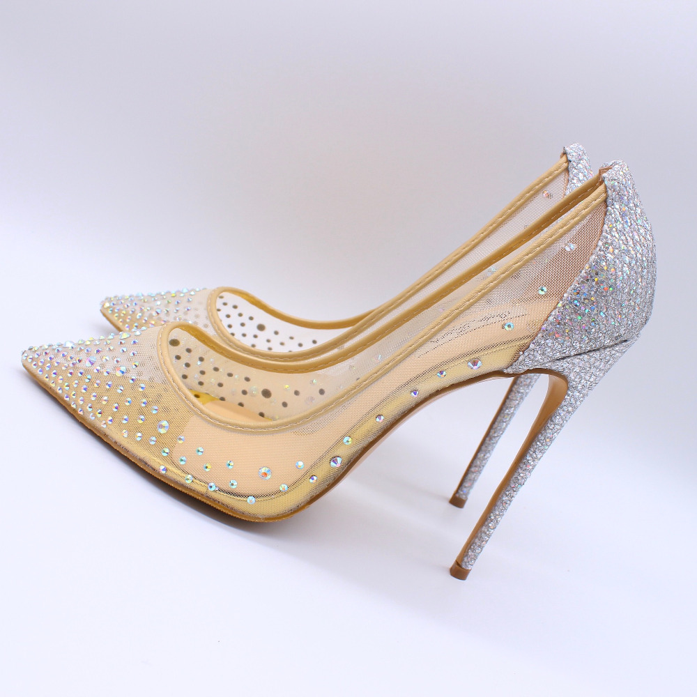 2019 Fashion free shipping women lady Nude mesh strass Poined Toe Stiletto high heel pump HIGH-HEELED SHOES Wedding Shoes2019 Fashion free shipping women lady Nude mesh strass Poined Toe Stiletto high heel pump HIGH-HEELED SHOES Wedding Shoes