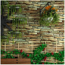 Creative Retro Background wallpaper Shop decoration restaurant hotel 3d stone wallpaper PVC living room brick wallsticker