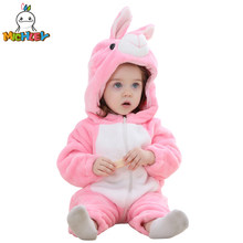 170951cd3 (Ship from US) MICHLEY Baby Rompers Newborn Cartoon Flannel Baby Boy Clothes  Animal one piece Jumpsuit Baby Girl Rompers Baby Clothing XYZ15088