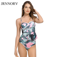 JRNNORV Sexy Bikini Swimwear Women Push Up Swimsuit High Waist Bathing Suit Floral Two Piece Bikinis