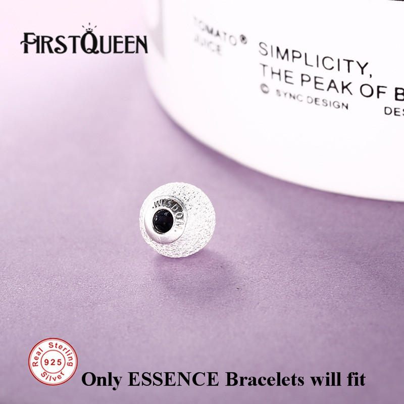 FirstQueen Pure 925 Silver Wisdom Brand Bead Fit Essence Bracelet Silver 925 Original DIY For Jewery Making Fine Jewelry