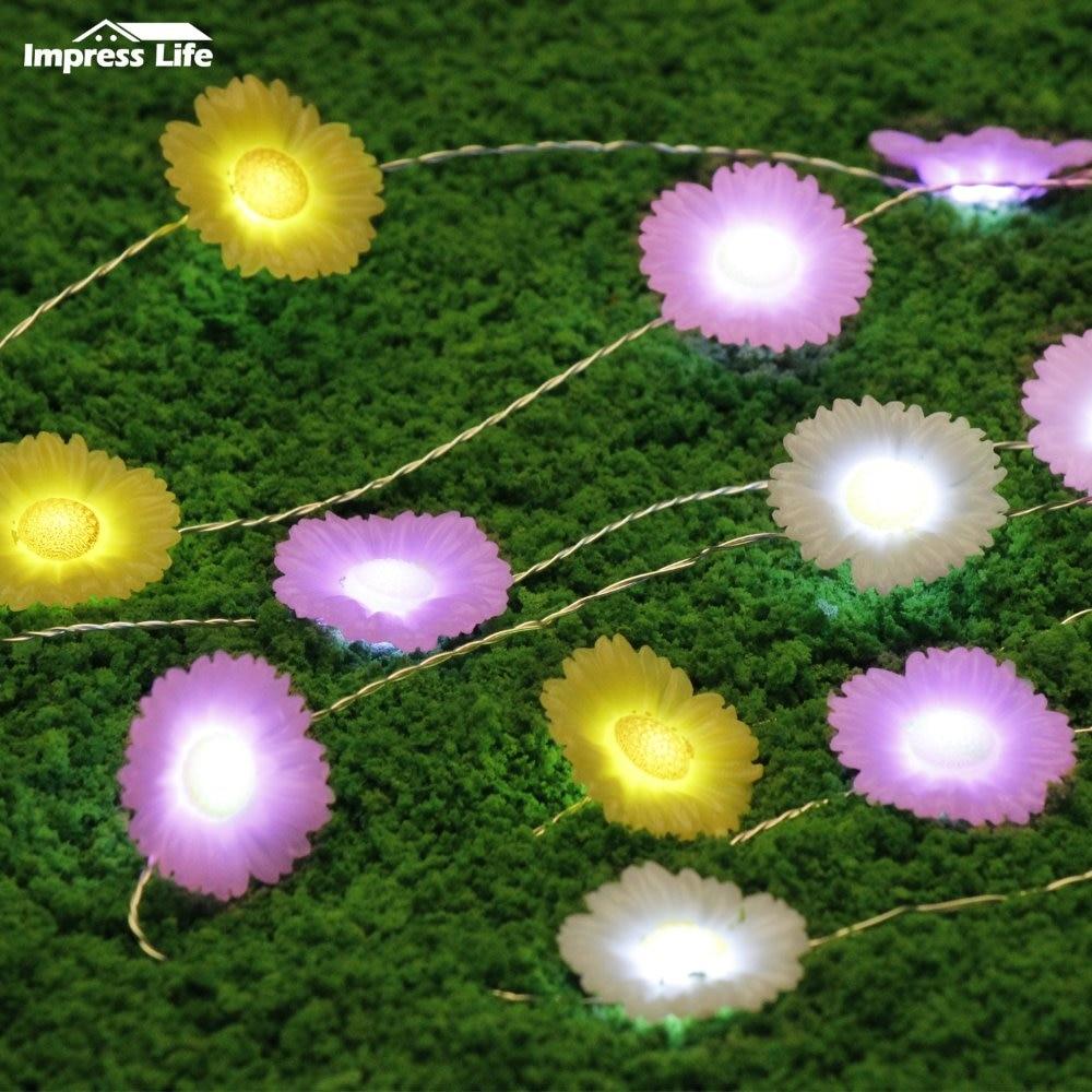 Daisy String Lights 10ft 40 Leds Spring Fairy Flower