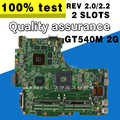 ل Asus N53S N53SV Rev 2.2 2 فتحات GT540M 2G USB3.0 2.0 N12P-GS-A1 HM65 PGA989 اللوحة المحمول 100% اختبار بالكامل