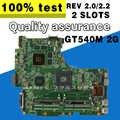 Para Asus N53S N53SV Rev 2,2 2 ranuras GT540M 2G USB3.0 2,0 N12P-GS-A1 HM65 PGA989 placa base de computadora portátil 100% totalmente