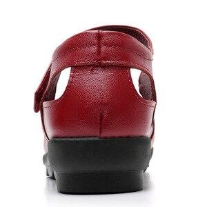 Image 5 - GKTINOO 2019 الأزياء جلد طبيعي الصيف أحذية امرأة الشقق منخفضة كعب هوك و حلقة الجوف خارج جلدية لينة حذاء مسطح ل السيدات