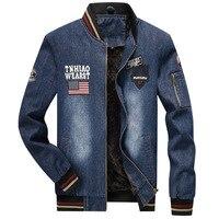 Brand Jackets Men Winter Denim Jacket Plus Velvet Warm Cotton Coats High Quality Washed Style Slim