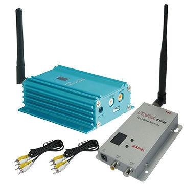2000mW High Power Long Transmit DistanceAV Transmitter, 2.4Ghz Wireless CCTV Video Sender With 4000m
