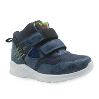 Apakowa İlkbahar sonbahar erkek ayakkabı Pu deri yarım çizmeler küçük çocuklar için yamalı çocuk ayakkabıları yeni düz ayakkabı EUR 27 32|Botlar|Anne ve Çocuk -