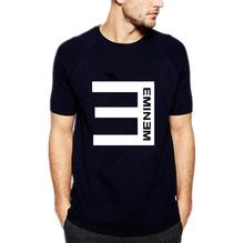 Anti E Eminem Cool Printed Men's T-Shirt Short Sleeve O Neck Cotton Casual T Shirt Men Fashion Streetwear Hip Hop Tops Tee(China)