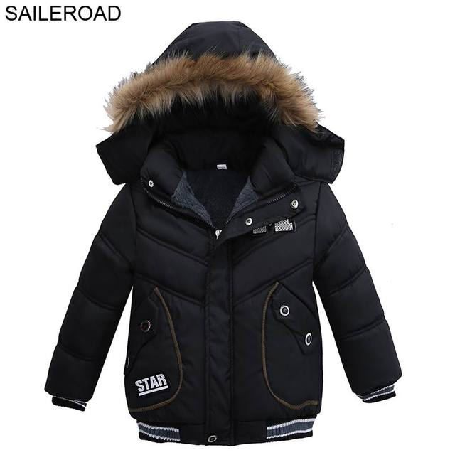 32fb0f51d SAILEROAD 2 4Year New Boys Winter Coats Warm Casual Fashion Children ...
